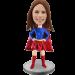 Custom Bobble Head Girl Super Hero