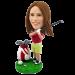 Custom Female Golfing Bobblehead