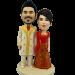 Indian Couple Wedding Cake Topper