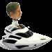Personalised Bobblehead Man in Speedboat