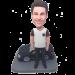 Man with Black Car Bobblehead